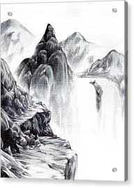 Misty Gorge Acrylic Print
