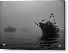 Misty Harbor Acrylic Print