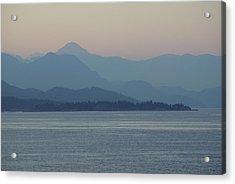 Misty Hills On The Strait Acrylic Print