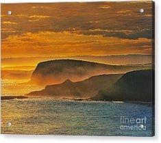 Misty Island Sunset Acrylic Print