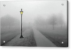 Misty Lane  Back In The Day Acrylic Print by David Dehner