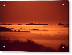 Misty Meadow At Sunrise Acrylic Print