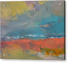 Misty Acrylic Print by Michael Creese