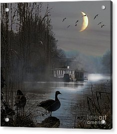 Acrylic Print featuring the photograph Misty Moonlight by LemonArt Photography