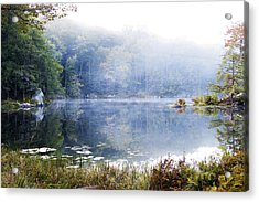 Misty Morning At John Burroughs #1 Acrylic Print