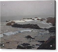 Misty Morning At Ragged Point, California Acrylic Print