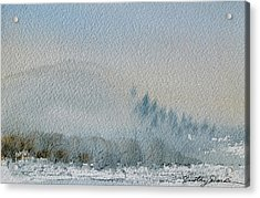A Misty Morning Acrylic Print