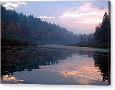 Misty Morning  Acrylic Print by Emily Stauring