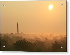 Misty Morning Fire Island Light Acrylic Print