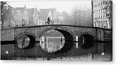 Misty Morning In Bruges  Acrylic Print
