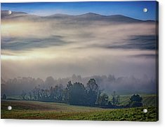 Misty Morning In Cades Cove Acrylic Print by Rick Berk