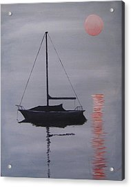 Misty Morning Mooring Acrylic Print
