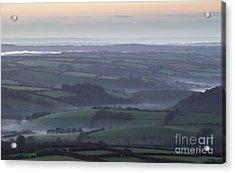 Misty Morning On Exmoor  Acrylic Print