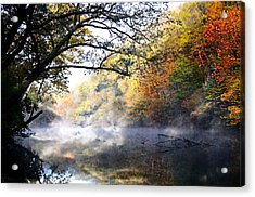 Misty Morning On The Current Acrylic Print
