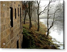 Misty Morning On The Illinois Michigan Canal  Acrylic Print