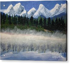 Misty Morning On The Mountain Acrylic Print