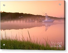 Misty Morning Osterville Cape Cod Acrylic Print by Matt Suess