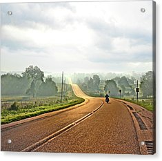 Misty Morning Ride Arkansas Acrylic Print