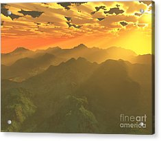 Misty Mornings In Neverland Acrylic Print by Gaspar Avila