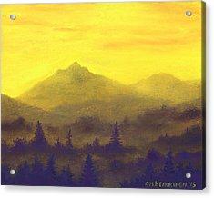 Misty Mountain Gold 01 Acrylic Print