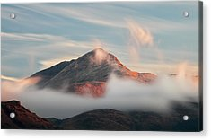 Acrylic Print featuring the photograph Misty Mountain by Grant Glendinning