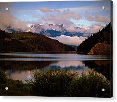 Acrylic Print featuring the photograph Misty Mountain Morning by Karen Shackles