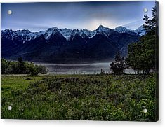 Acrylic Print featuring the photograph Misty Mountain Morning Meadow  by Darcy Michaelchuk