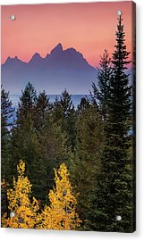 Acrylic Print featuring the photograph Misty Mountain Sunset by Andrew Soundarajan