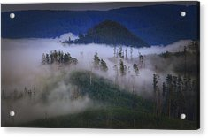 Acrylic Print featuring the photograph Misty Mountains by Tim Nichols
