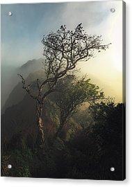 Misty Na Pali Acrylic Print