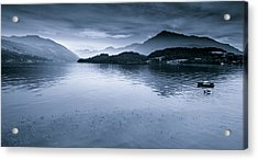 Misty Peaks In The Distance Acrylic Print