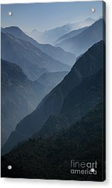 Misty Peaks Acrylic Print by Timothy Johnson