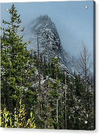 Misty Pinnacle Acrylic Print