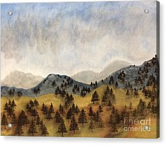 Misty Rain On The Mountain Acrylic Print
