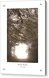 Acrylic Print featuring the digital art Misty Road by Julian Perry