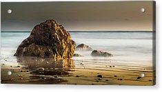 Misty Rock Acrylic Print