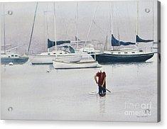 Misty Scalloper Acrylic Print by Karol Wyckoff