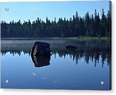 Misty Summer Morning Acrylic Print by David Porteus