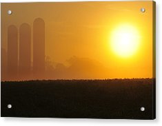 Acrylic Print featuring the photograph Misty Sunrise by Dan Myers