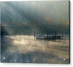 Misty Sunrise Acrylic Print by George Randy Bass