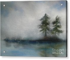 Misty Waters Acrylic Print by Vivian  Mosley