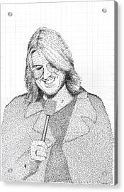Mitch Hedberg In His Own Jokes Acrylic Print by Phil Vance