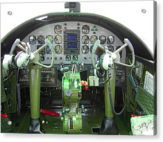 Mitchell B-25 Bomber Cockpit Acrylic Print by Don Struke
