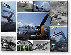 Mitchell B-25 Collage Acrylic Print by Don Struke