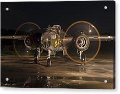 Mitchell Night Engine Run Acrylic Print