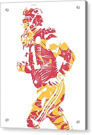 Mitchell Schwartz Kansas City Chiefs Pixel Art 1 Acrylic Print