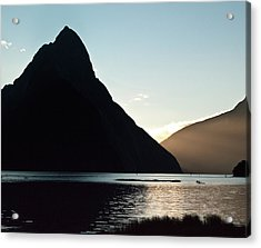 Acrylic Print featuring the photograph Mitre Peak Milford Sound New Zealand by Odille Esmonde-Morgan