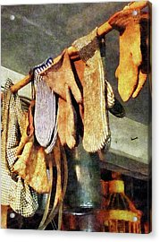 Mittens In General Store Acrylic Print by Susan Savad