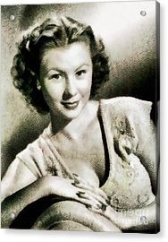 Mitzi Gaynor, Hollywood Legend By John Springfield Acrylic Print