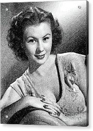 Mitzi Gaynor, Vintage Actress By Js Acrylic Print